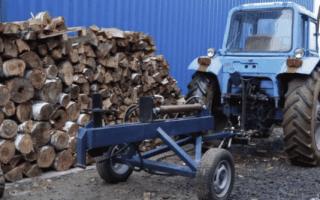 Дровокол на трактор: виды и как сделать своими руками