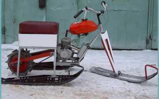 Как из бензопилы сделать снегоход?