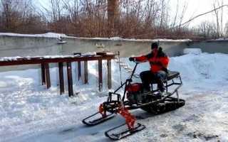 Самодельный снегоход из мотоблока своими руками: видео самоделки