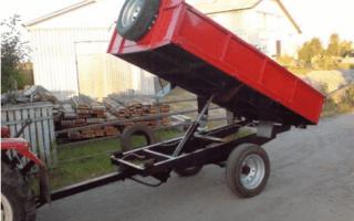 Прицеп (телега) для трактора — изготовление своими руками